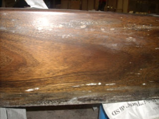 mold behind furniture