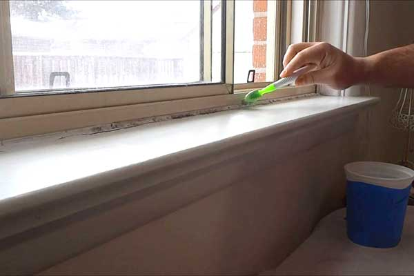mold on window sills