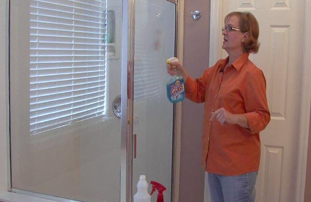how do you clean acrylic shower doors