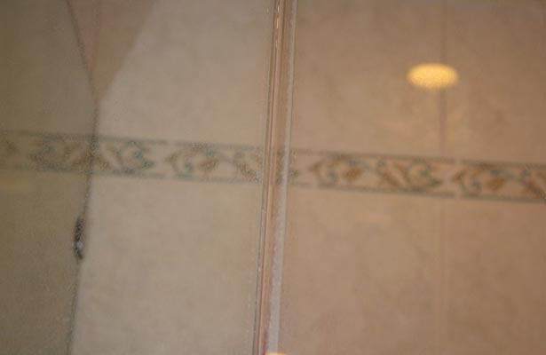 how do you clean frosted glass shower doors