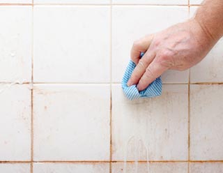 how to clean black mold in shower grout