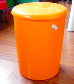 Orange Mold In Garbage Trash Can