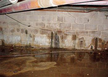 water leaks in the basement