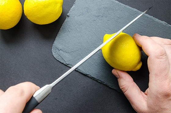 Clean mold on pillow with lemon